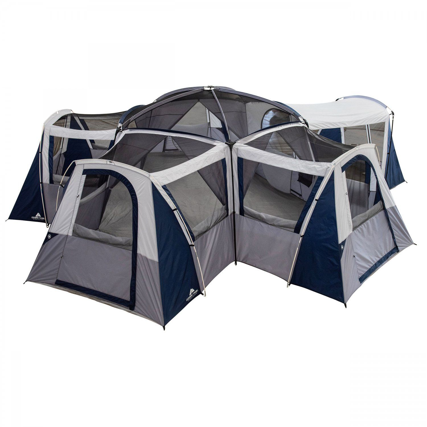 Ozark Trail Hazel Creek 20 Person Star Tent With Screen Room In 2021 Luxury Camping Tents Cool Tents Tent