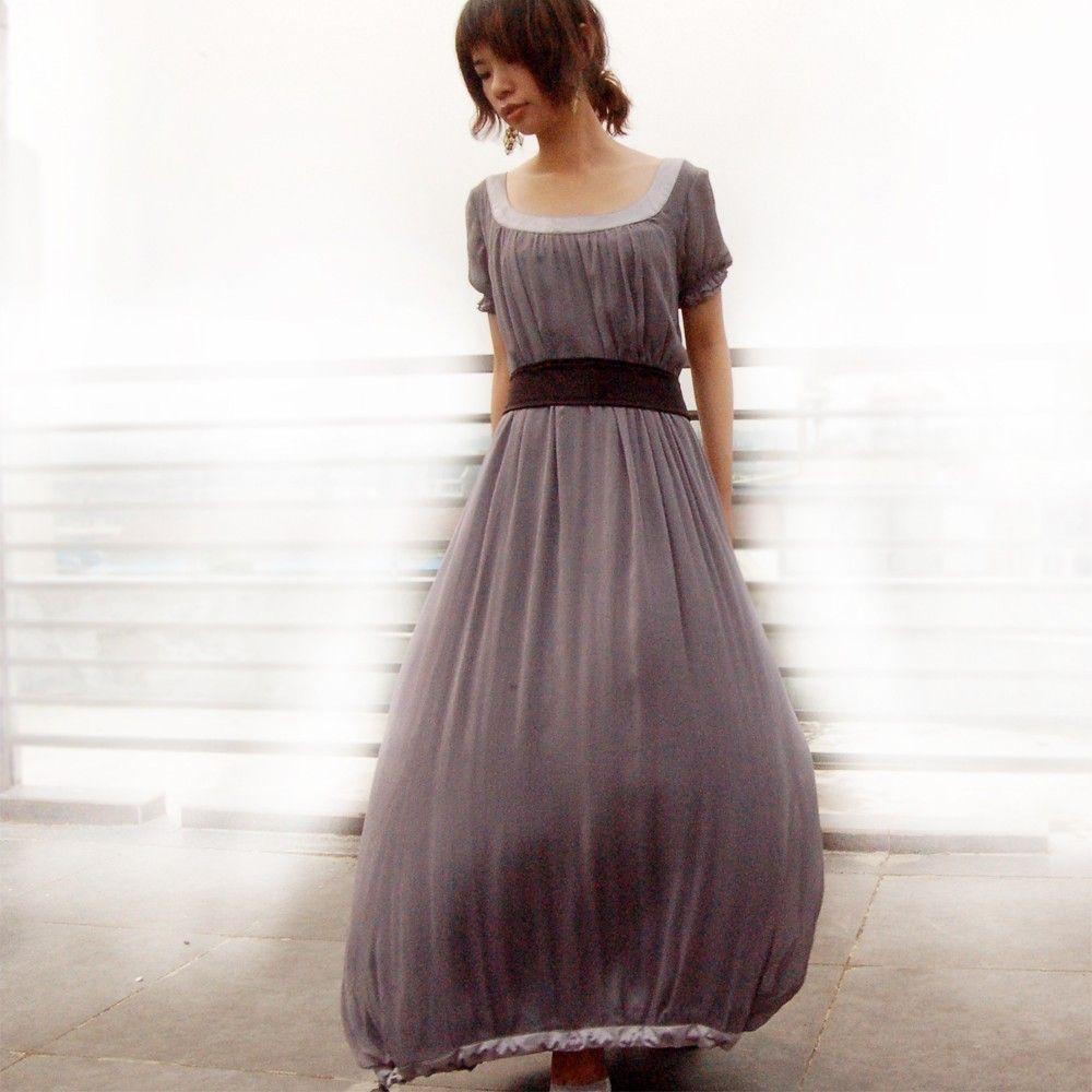 Aegon silk chiffon long dress q perhaps i should have been