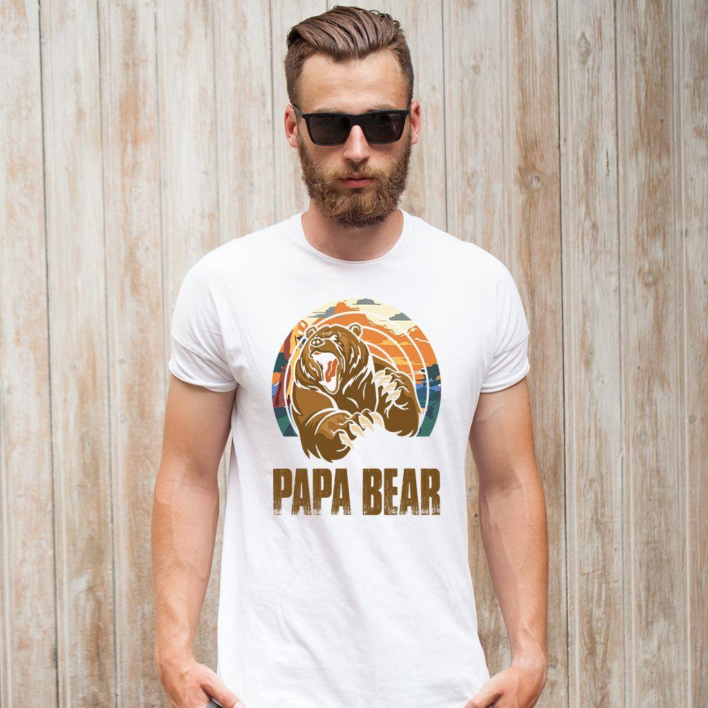39505cb6 PAPA BEAR Men's T-shirt 🐻 - #PapaBear #Bear #Papa #ilovePapa #Papa  #LovePapa #BearTshirt #PapaTshirt #BearBoy #Dad #Daddy #giftideas  #FamilyBear #TeamBear ...