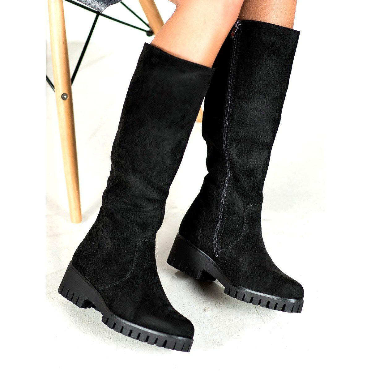 Filippo Kozaki Na Platformie Czarne Over Knee Boot Boots Shoes