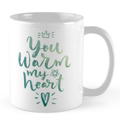 you warm my hear coffee mug