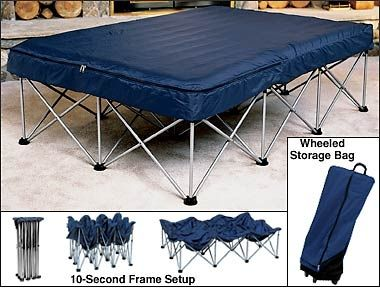 Cabela S Folding Air Bed Frame With Queen Air Bed And Pump Tent