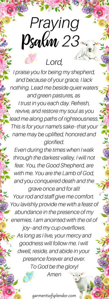 Prayers for Guidance and Direction Using Psalm 23 | prayers