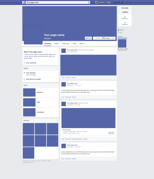 Facebook Page Redesign 2014 Mockup PSD http://downloadpsd.com/gui ...