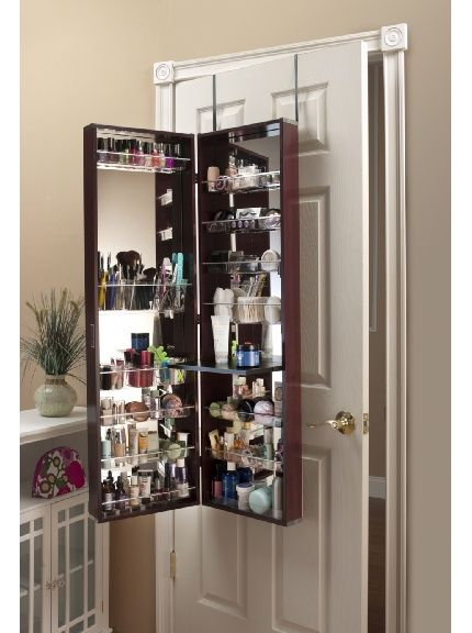 Lovely Over The Door Cherry Beauty Organizer.may Be A Good Thing For Makenz