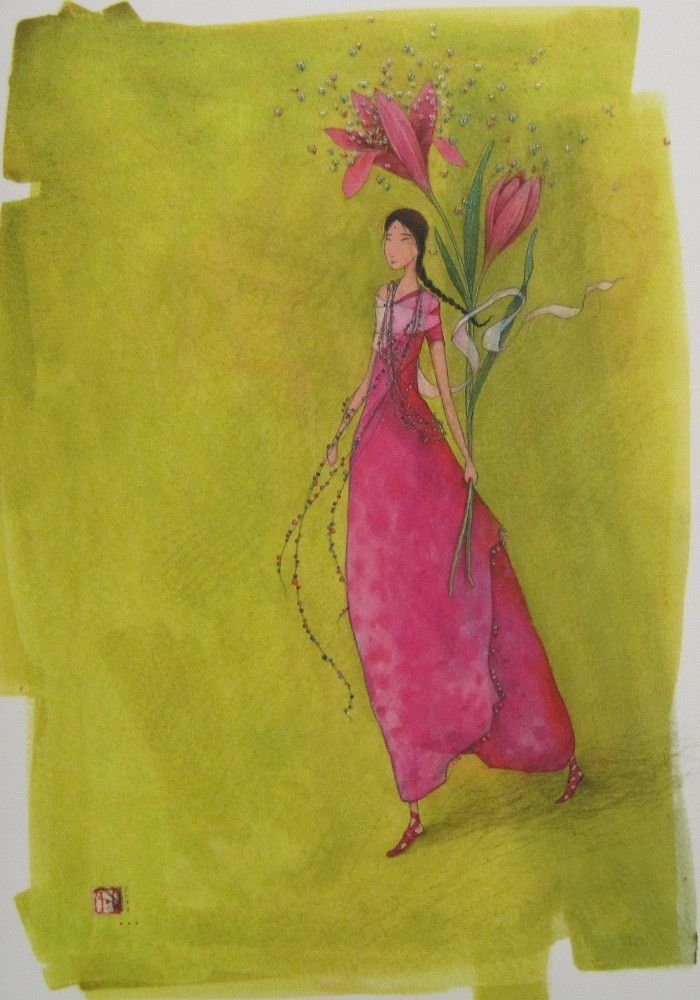Gaelle Boissonnard Any Occasion Friendship Card DB 92   South Hollow Gallery Leapenhi Paper