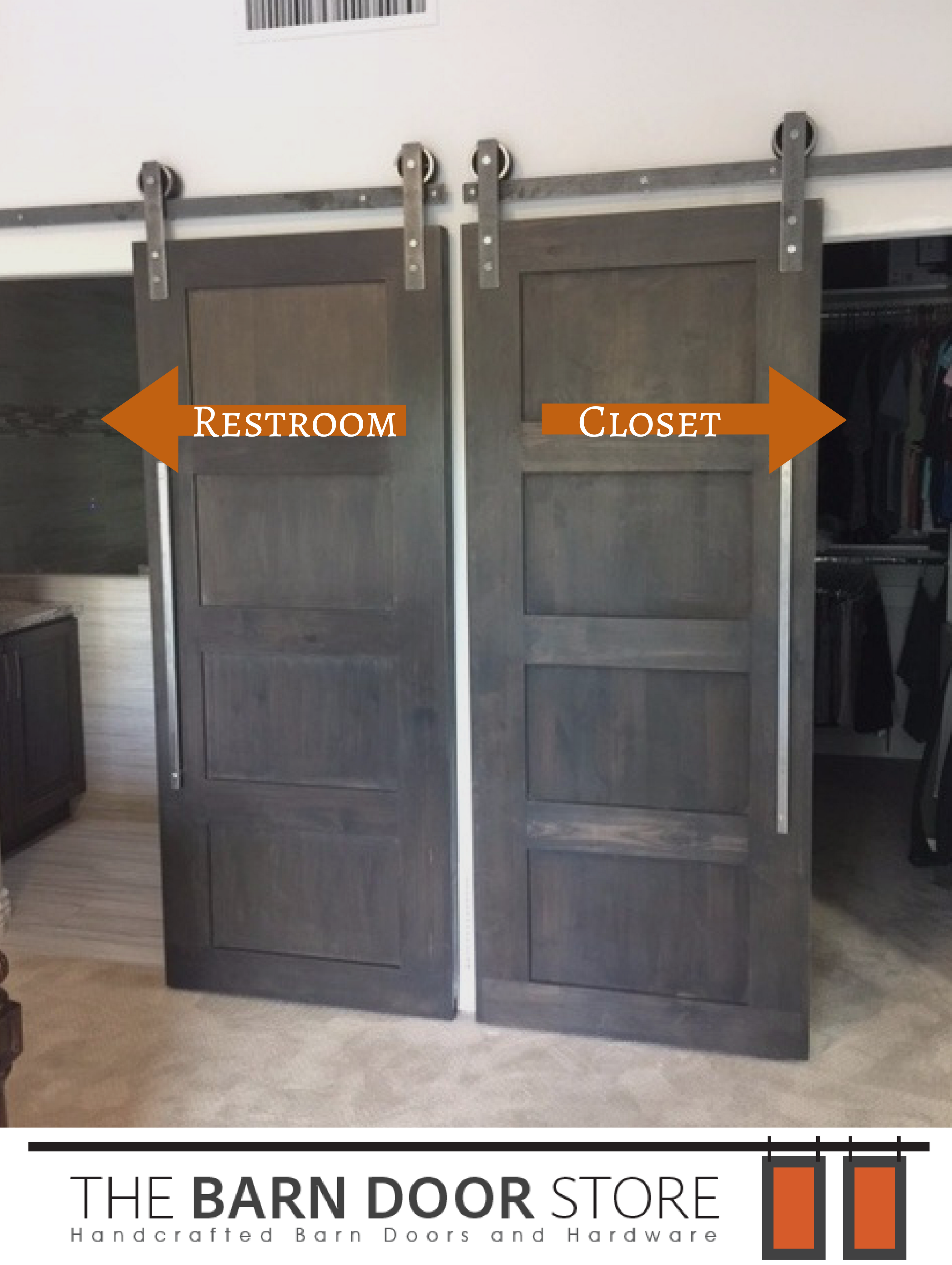 Barn doors galore! Our customer ordered 3 custom barn doors and we think that they & Barn doors galore! Our customer ordered 3 custom barn doors and we ...