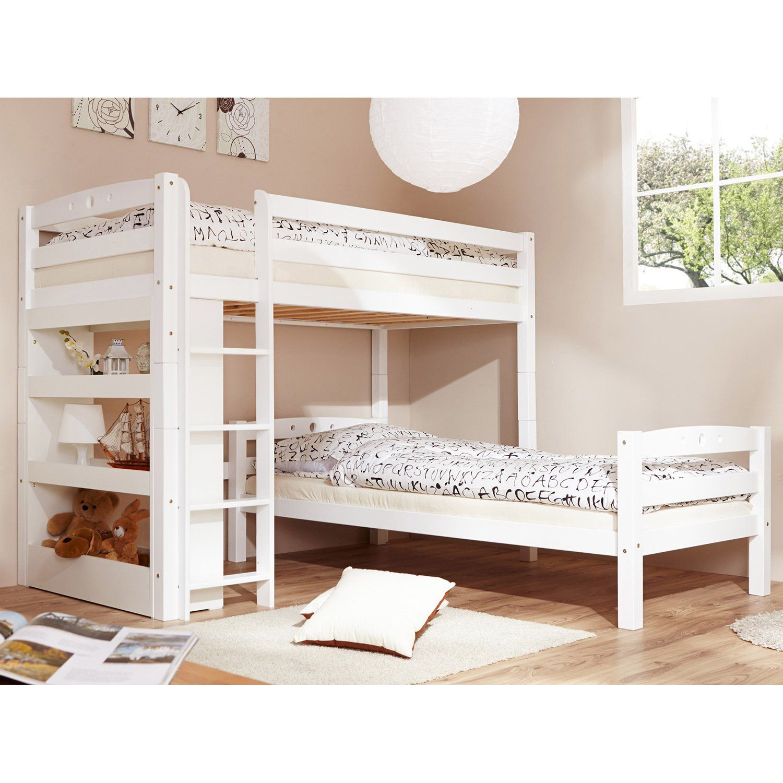 Als Zwei Normal Hohe Einzelbetten Stellbar Aus Massiver Buch Gefertigt Hochste Haltbarkeit Ticaa L Bett Lupo Buche Massiv Etagenbett Kinderbett Bett Ideen