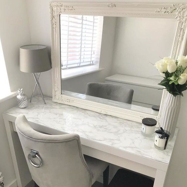 MALM Dressing table white 120x41 cm in 2020 Dressing