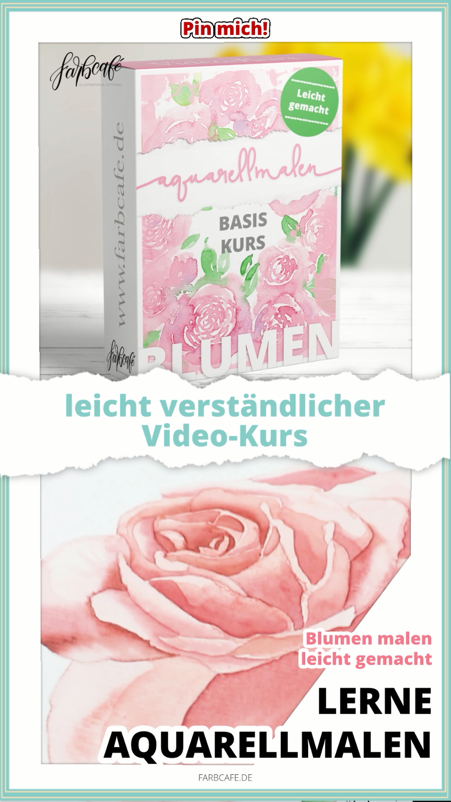 Aquarell Blumen Videokurs
