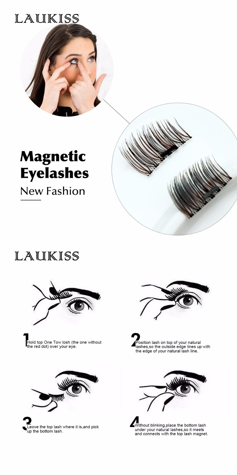 Magnetic False Eyelashes Extensions Lash Magneic Individual