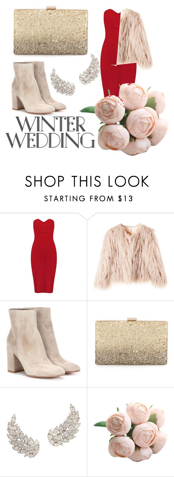 """""""winter wedding"""" by mariabutnarica ❤ liked on Polyvore featuring Gianvito Rossi and Neiman Marcus"""