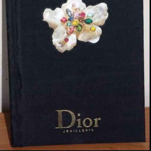 Dior catalog - gold foil lettering
