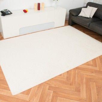 Komfort Velour Teppich Kontor Creme Weisse Teppiche Pinterest