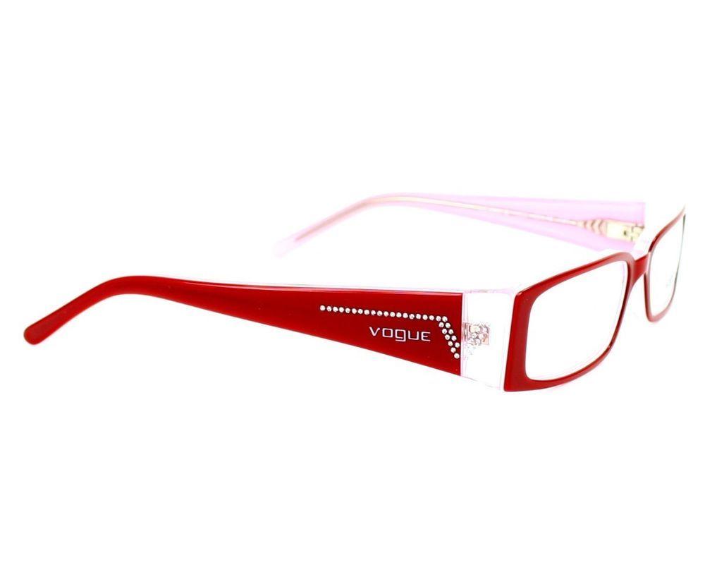 6940e8b6f2 New Vogue eyeglasses 2557 Red 1556 Authentic 49mm Rx frames  Vogue   Rectangular