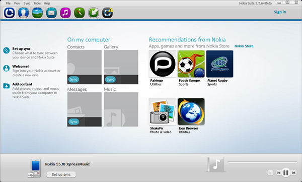 Nokia PC Suite Rus Web скачать