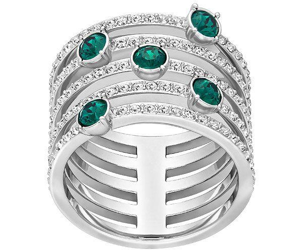 Swarovski Creativity Wide Emerald Jewelry Ring 2019