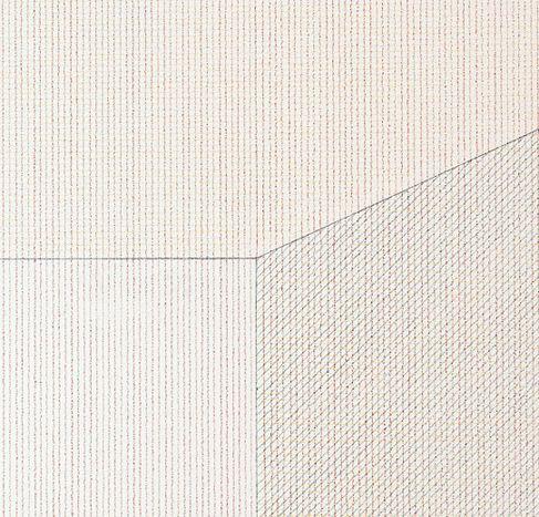 Wall Drawing 1094A at MASS MoCA, Projecting form. Colored pencil ...