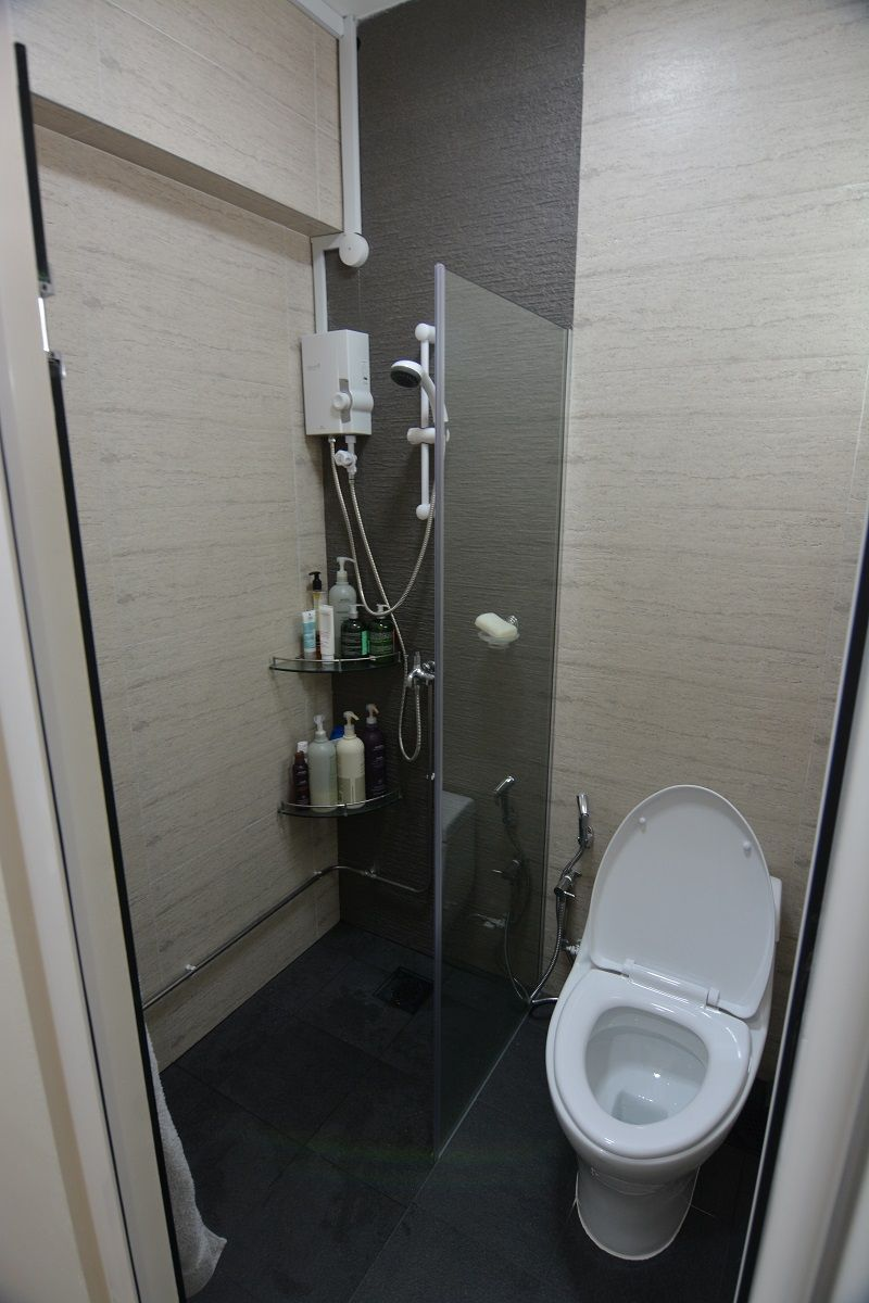 Bathroom Of Room HDB Resale Flat At Blk Bedok Reservoir Road - Designer bathroom sinks singapore