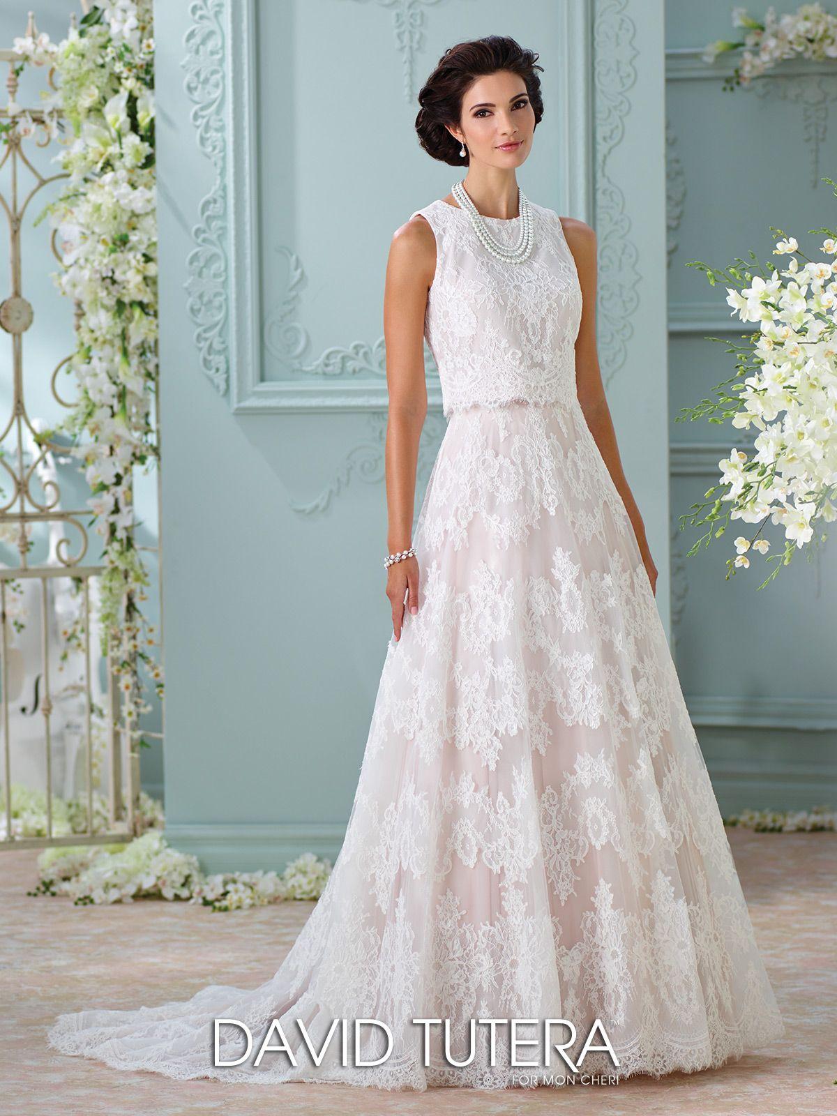 Two-Piece Sleeveless Lace Wedding Dress- 116209 Rhyah | David tutera ...