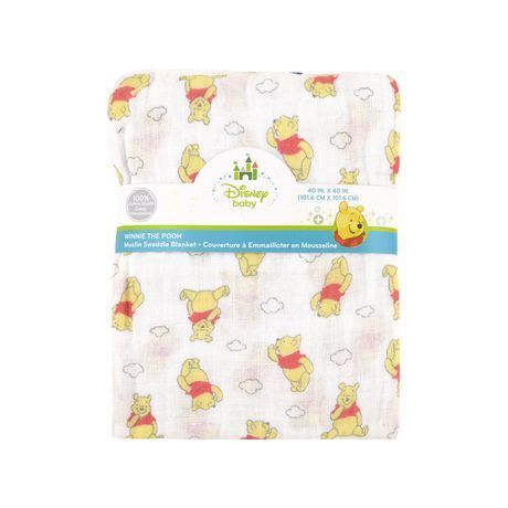 Walmart Swaddle Blankets Disney Winnie The Pooh Muslin Swaddle Blanket  Walmartca  Baby