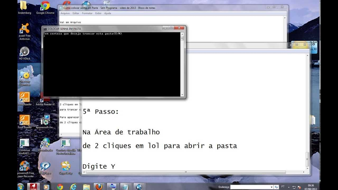 Como Colocar Senha Na Pasta Do Windows 7 Sem Programa Windows E