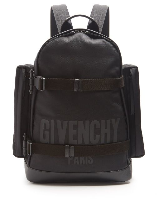 e1dc791c7ac5 GIVENCHY Logo-Print Canvas Backpack.  givenchy  bags  canvas  lace  leather   lining  backpacks  cotton