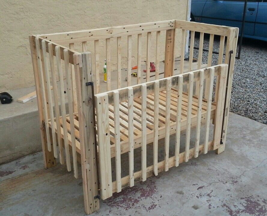 Baby Crib | Pallet Ideas | Wood Baby Cradle Crib Beds | Pinterest ...
