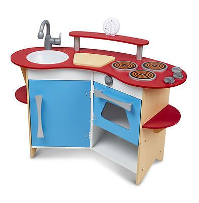 Wooden And Handcrafted Toys 1197 Melissa Doug Cook S Corner Play Kitchen