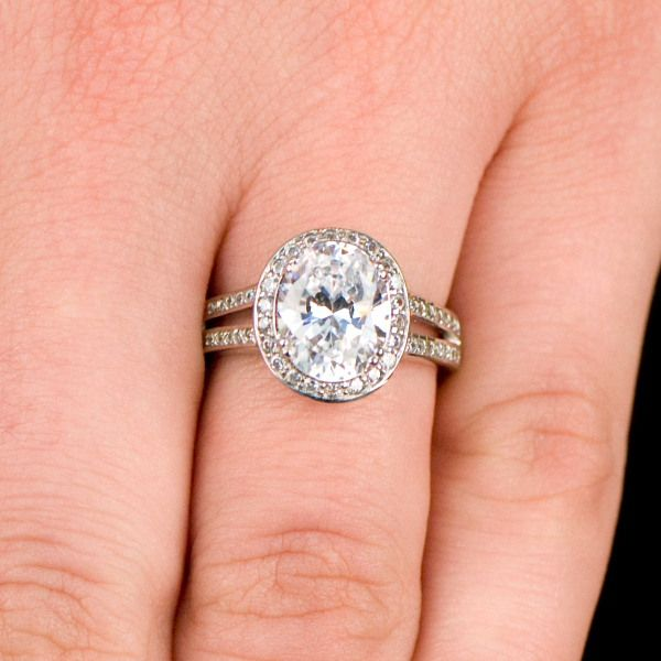 carlys fake engagement ring oval cut cz 64 - Fake Wedding Rings