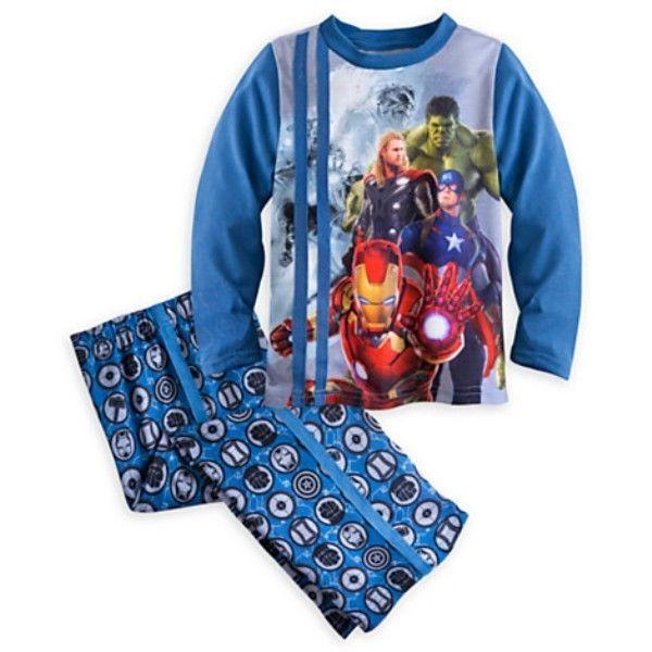 Marvel Comics Boys Size 8 Pajama Set Super Hero Captain America