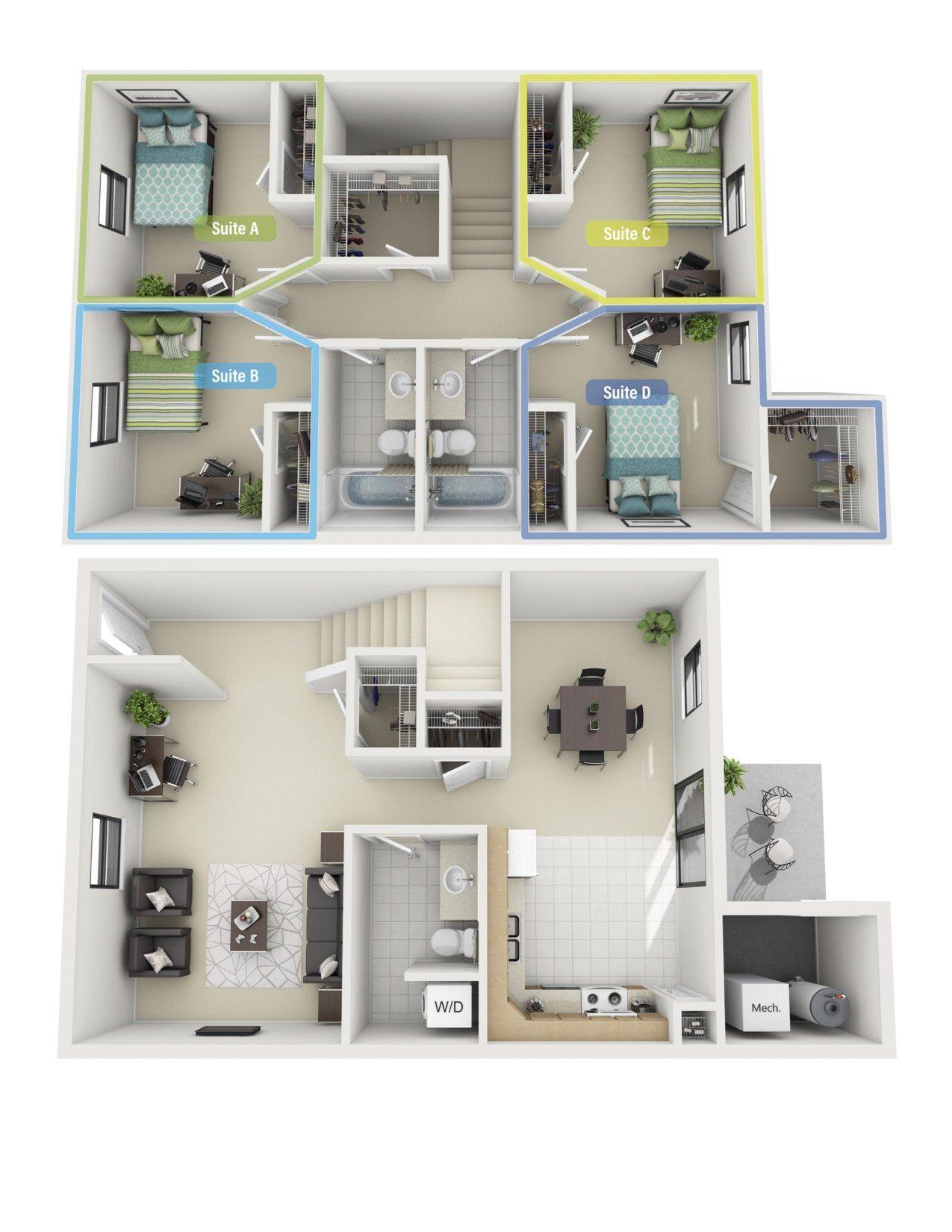 Campus Creek Cottages And Apartments Off Campus Housing Big Rapids Mi Forrentuniversity Com House Plans House Apartment