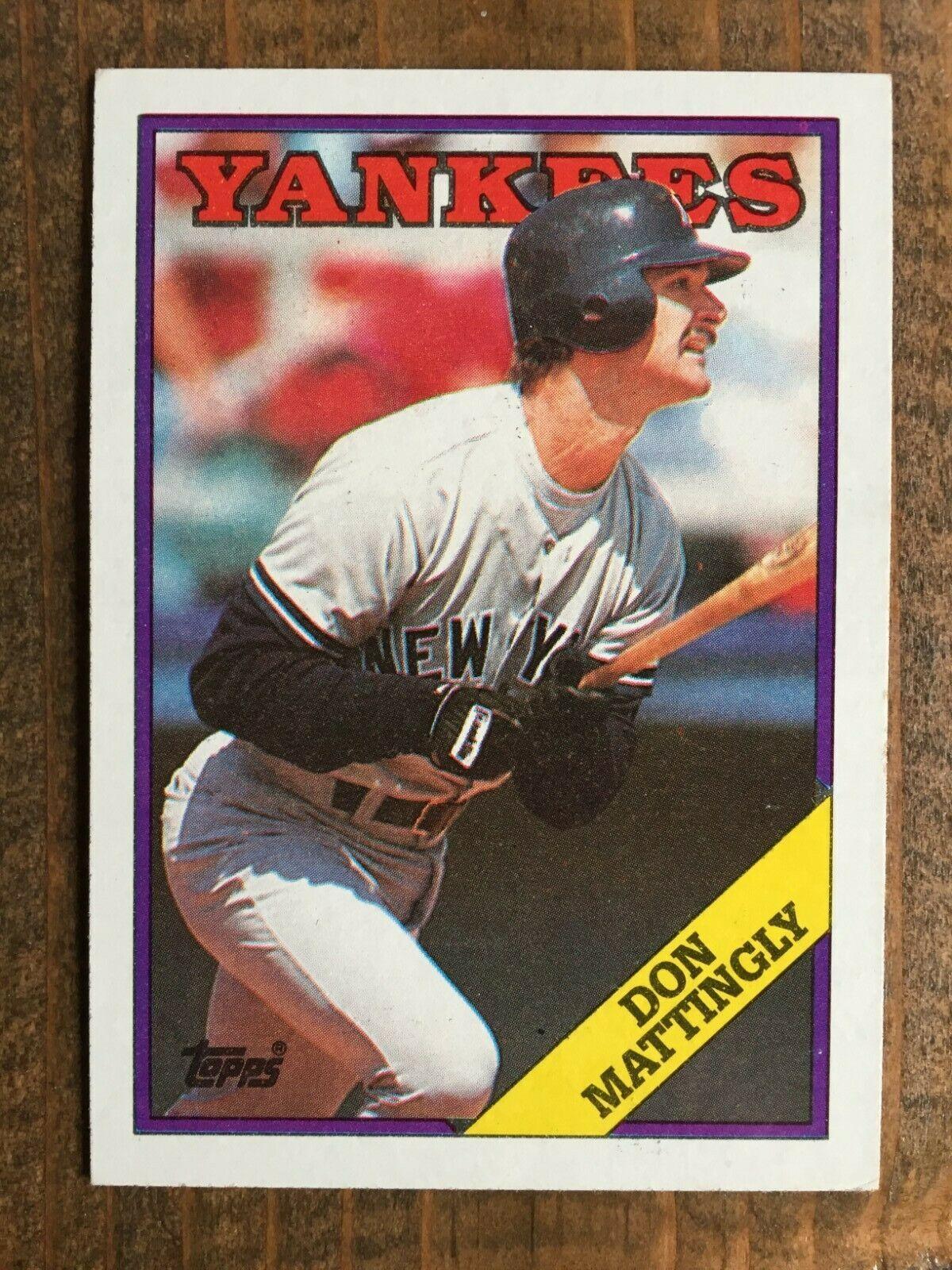 1988 topps 300 don mattingly new york yankees nm