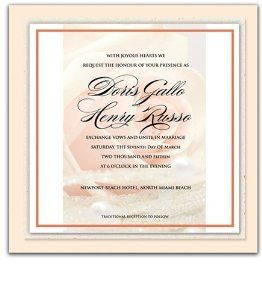 275 Square Wedding Invitations - Blush Peach Rose n' Pearls by WeddingPaperMasters.com. $687.50. Now you can have it all! We have created, at incredible prices & outstanding quality, more than 300 gorgeous collections consisting of over 6000 beautiful pieces that are perfectly coordinated together to capture your vision without compromise. No more mixing and matching or having to compromise your look. We can provide you with one piece or an entire collection in a one ...