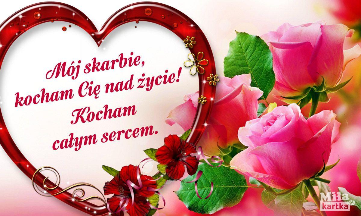 Kocham Cie Moj Skarbie Milosc Kochanie Kartki Walentynki Serce Okolicznosciowe Polska Milosc Poland Pocztowk Kindergarten Crafts Love Valentines Day
