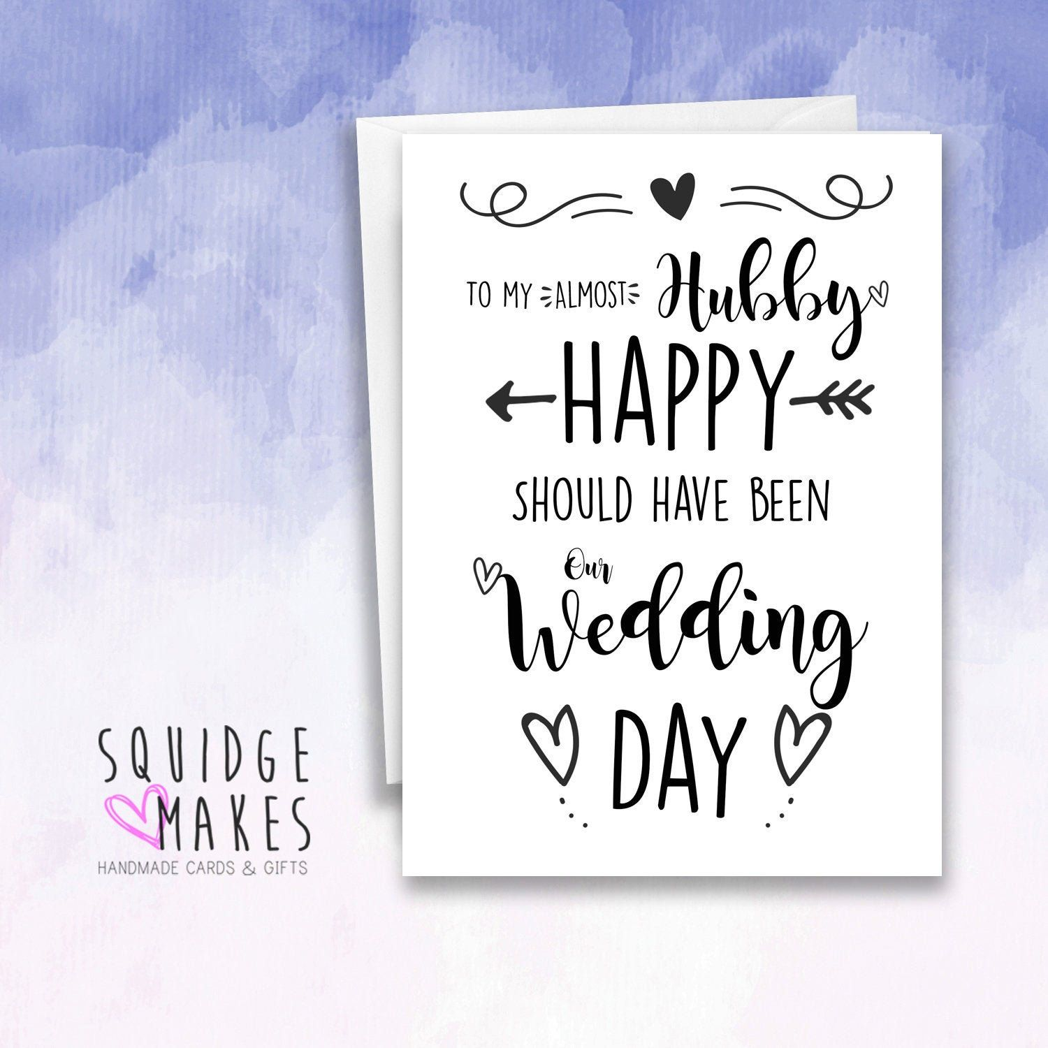 Hubby Husband Fiance Today Should Have Been Our Wedding Day Etsy In 2020 Our Wedding Day Our Wedding Funny Fathers Day Card