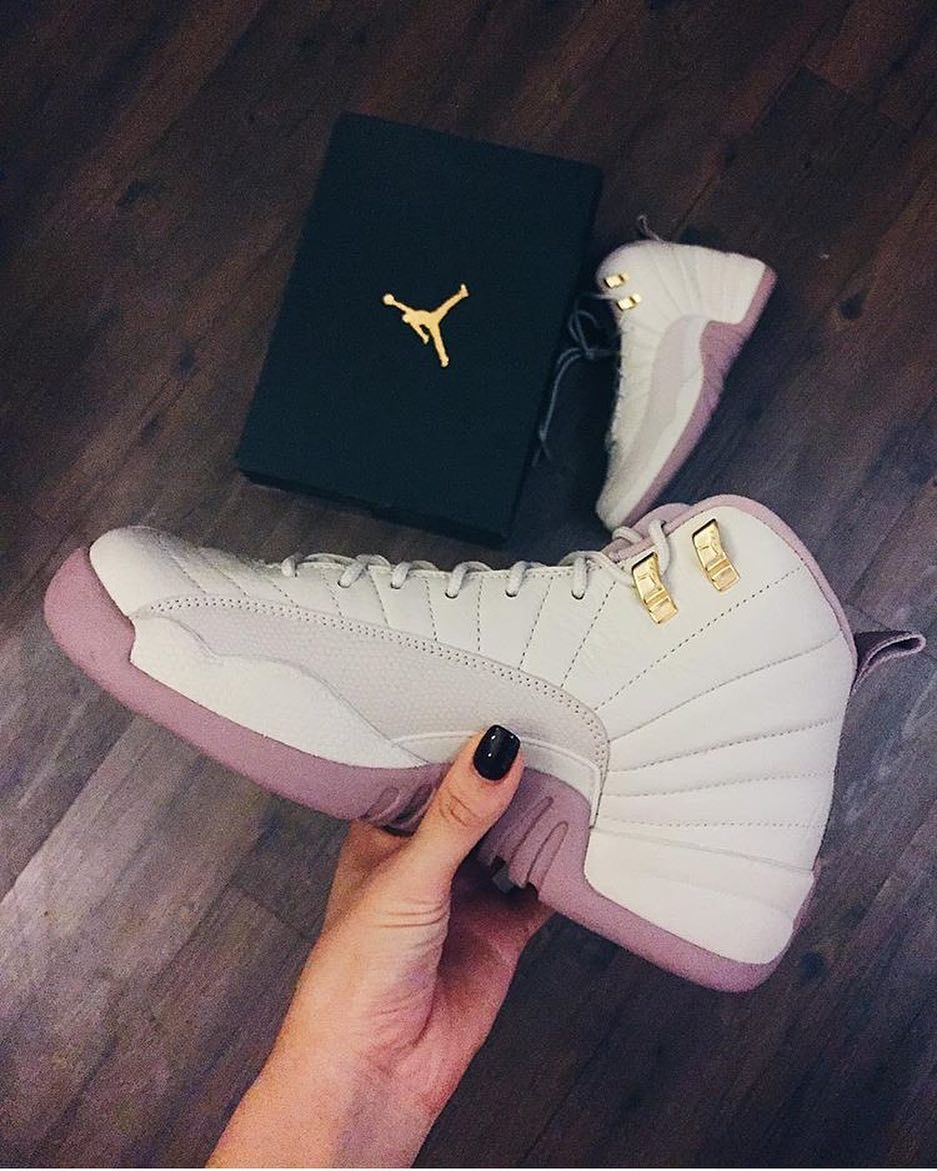 Ladies sink your feet into these Jordan 12 Retro Plum Fog ...