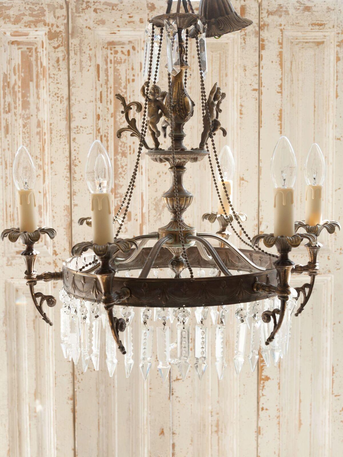Beautiful italian cherub chandelier circa 1920s chandeliers beautiful italian cherub chandelier circa 1920s arubaitofo Gallery