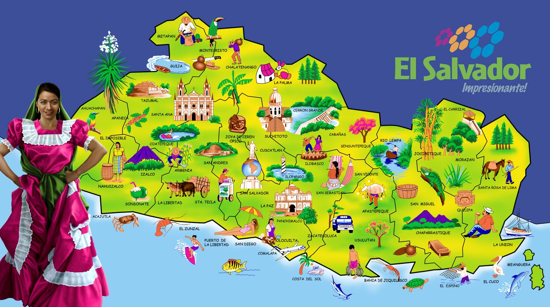 Mapa El Salvador Impresionante By Real Warner Salvador El Salvador San Salvador