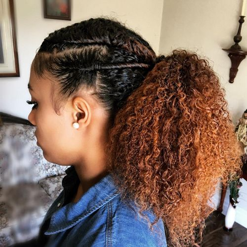 stylish and natural taper haircut