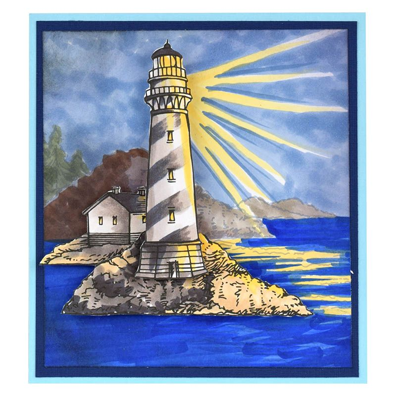 Build a Lighthouse Dark by Fran Seiford - Stampendous