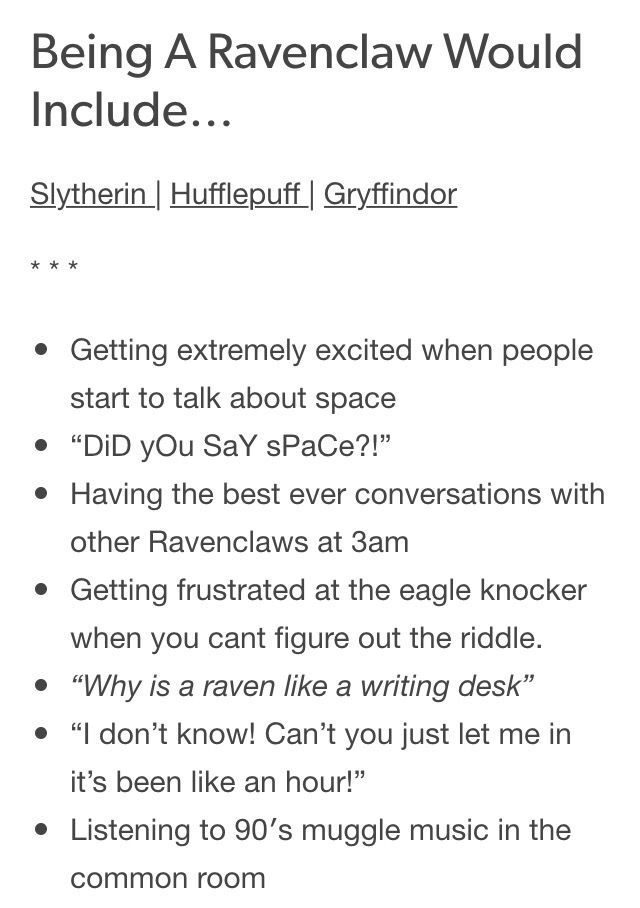 Being A Ravenclaw Would Include Part 1 3