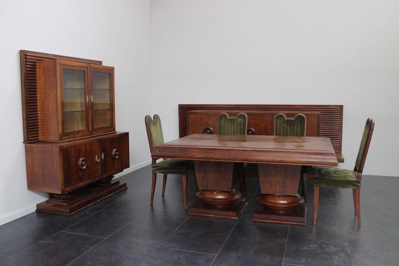 Tavolo Pranzo Art Deco sala da pranzo jacques klein - marco polo - antiques online