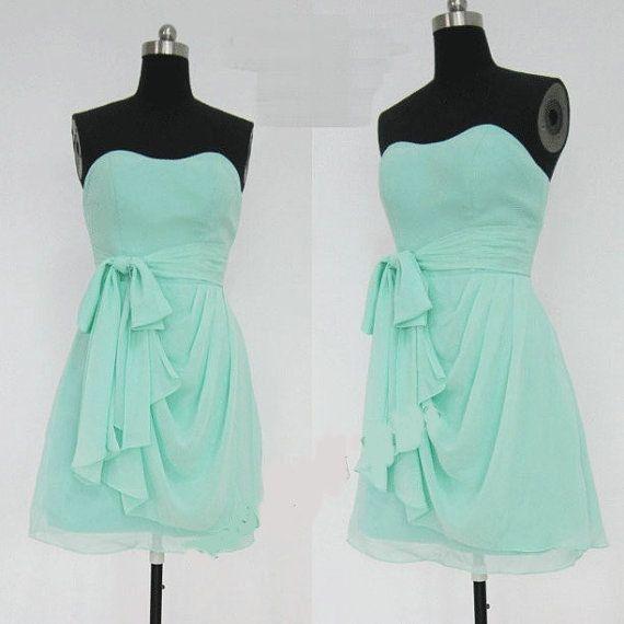 A line sweetheart evening dress, short prom dress, bridesmaid dress, evening gowns, custom made dress