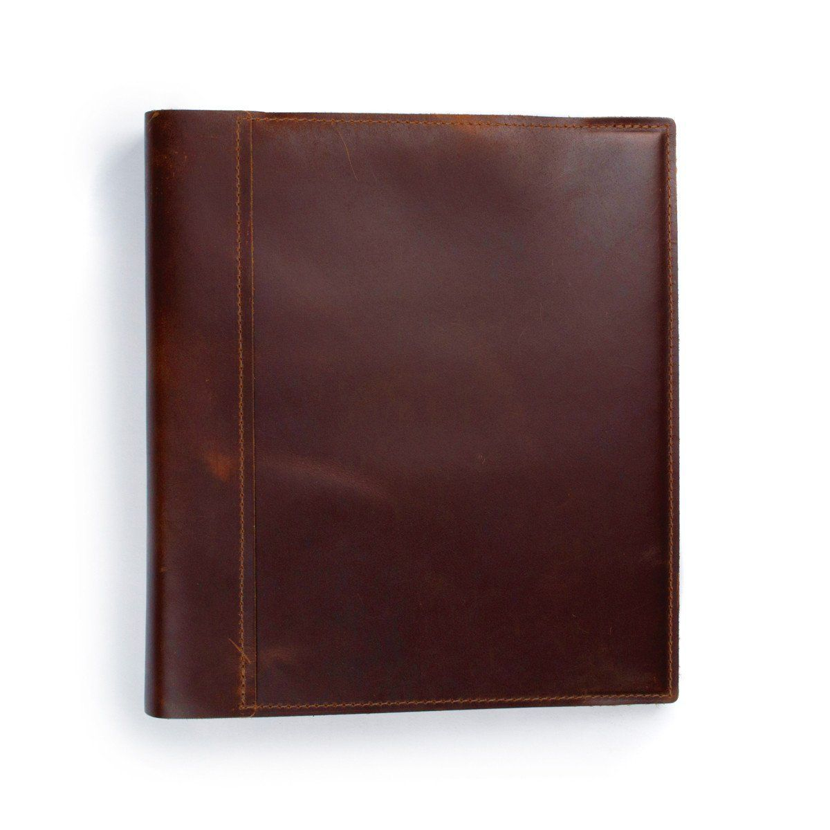 Leather 1.5 Inch 3-Ring Binder Cover