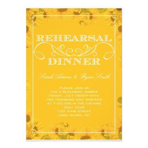 Sunflower Rehearsal Dinner Invitation