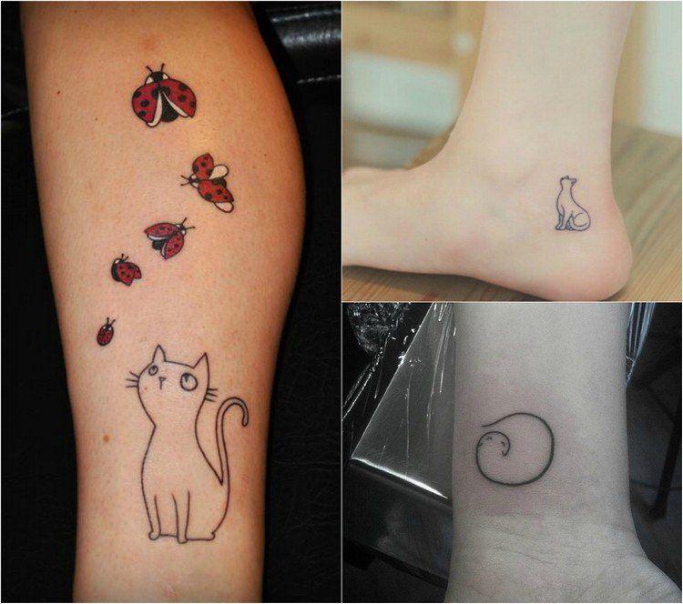 tatouage chat original en styles vari s 39 id es cr atives tatouage pinterest tatouage. Black Bedroom Furniture Sets. Home Design Ideas