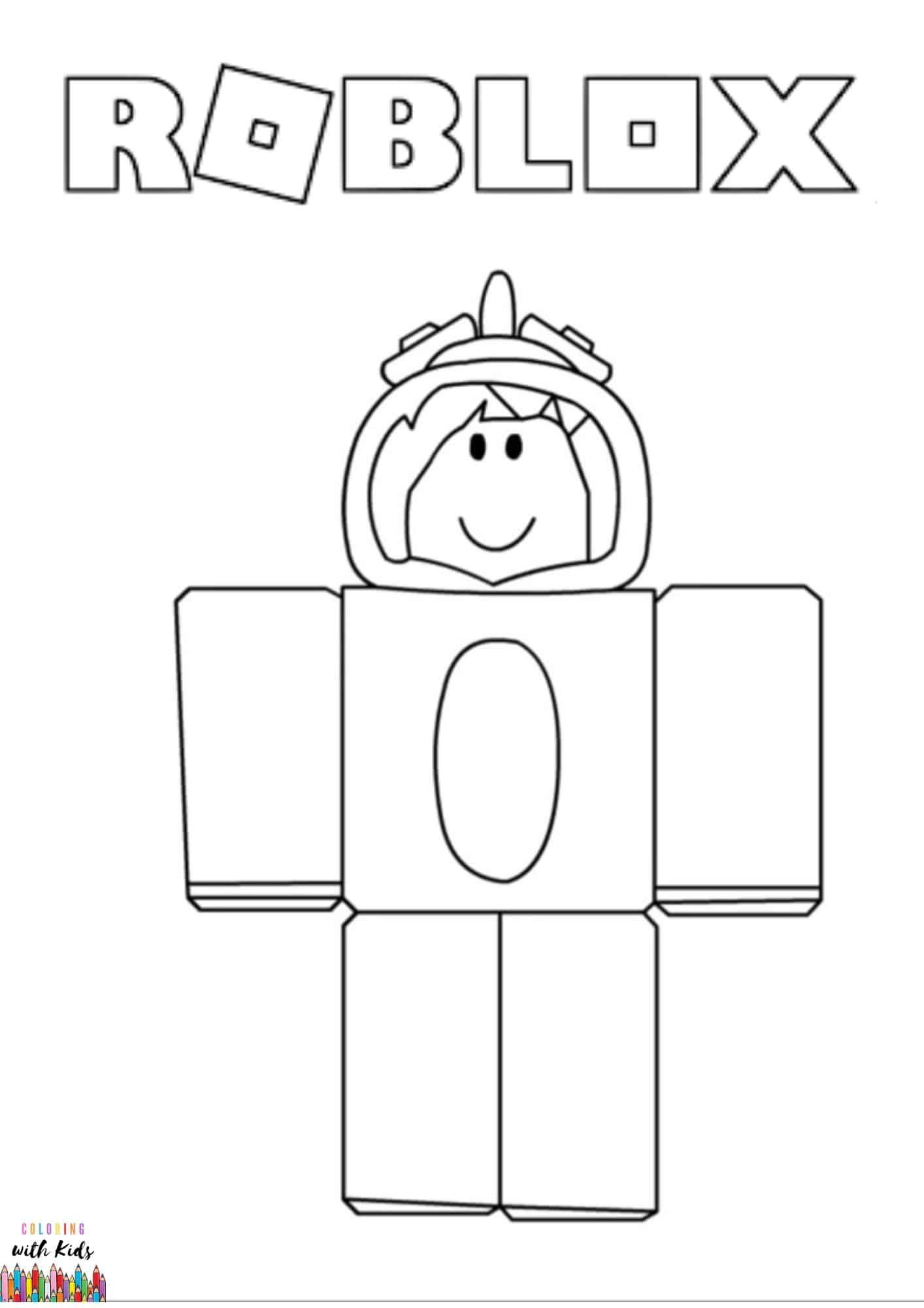 Roblox Unicorn Avatar Coloring Page Image Credit Roblox Unicorn Avatar Drawing By Yadia Chenia Unicorn Coloring Pages Free Coloring Pages Coloring Pages