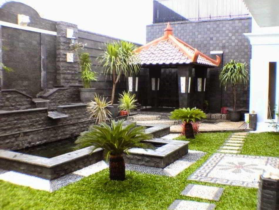 Bentuk Taman Depan Rumah Sederhana