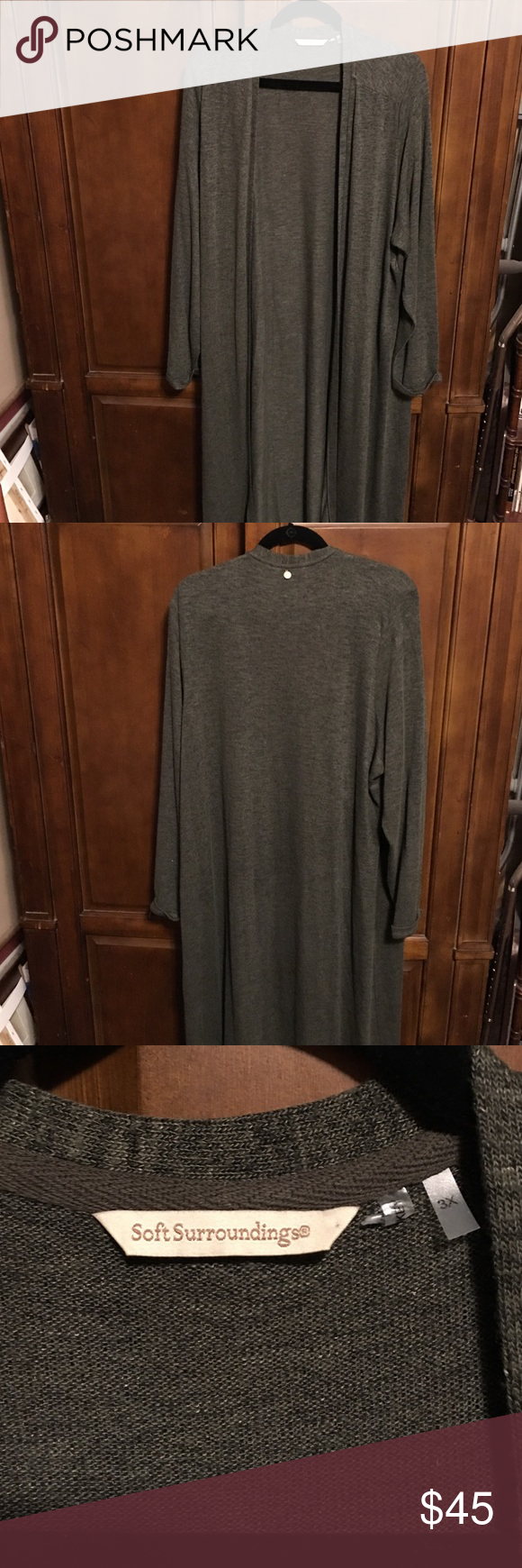 Soft Surroundings Duster Long cardigan. Fall Collection. Worn once. Soft and warm. Feel free to offer or bundle to save money! Soft Surroundings Sweaters Cardigans